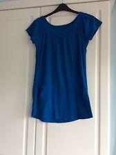 TOPSHOP. Blue LOOSE FIT 100% Cotton Dress UK 12 Excellent Condition