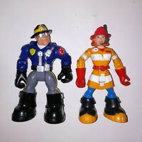 Mattel Fisher Price Rescue Heros Fire Fighter Wendy Action Figure Police Officer