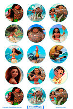 15 x Moana Bottle Cap Logo Images for Necklaces, Magnets, Scrapbooking, Bows
