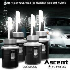 Combo LED Headlight Kit 9005 9006 Bulbs For Honda Accord Hybrid 2017 Hi/Low Beam