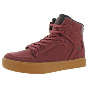 Supra Boys Vaider Canvas High Top Trainers Skate Shoes Sneakers BHFO 6151