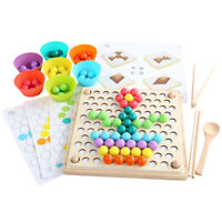 Wooden Beads Game Toy For Baby Kids Clip Toddlers Early Developmental Toys PET