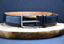 Boggi Milano Original Classic Italian Mens Leather Belt Black Size 38