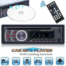 12V 1 Din Car Stereo Radio Bluetooth DVD/CD Player MP3 In Dash Aux/USB/FM Audio