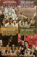 4x LOT The Walking Dead 1 3 4 5 Kirkman Graphic Novel TPB Image Comics VG fr/shp