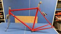 """Vintage Raleigh Grand Prix Racing Bike Frame Forks 21.5 """" eroica build"""