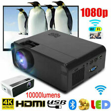 LED Smart Home Theater Projector Android Wifi BT  Video Movie 10000 Lumens I8G7