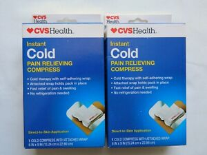 Lot of 2 CVS Health Instant Cold Pain Relieving Compress