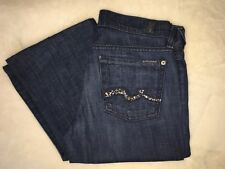 7 For All Mankind Jeans with Swarovski Crystals Sz: 26