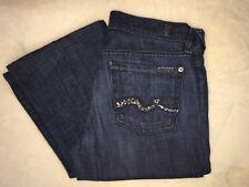 7 For All Mankind Jeans Sz 26 Dark Wash Swarovski Crystal Pockets