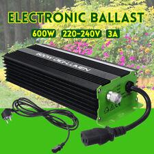 NEW Digital 600W Electronic Ballast for Garden Planter Grow Lights HPS MH Bulbs