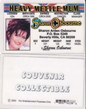 fun Sharon Osbourne novelty collectors card Drivers License i.d. card