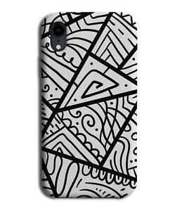 African Tribal Geometric Pattern Phone Case Cover Shapes Africa Black White H482