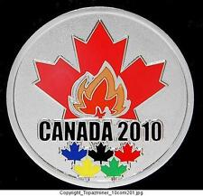 LAPEL PINS 2010 VANCOUVER CANADA SILVER MEDAL & TORCH