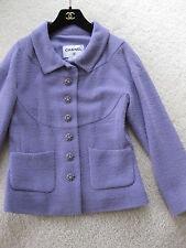 Chanel NWT Fancy Lilac Parme Tweed Jewel Tone CC Buttons 2-Pocket Jacket 38 12C