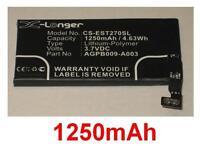 Batterie 1250mAh Pour SONY ERICSSON ST27a, ST27i, Xperia advance, AGPB009-A003