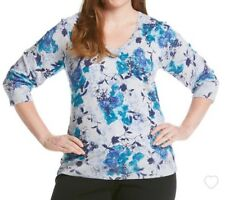 Ladies Studio Works Multi Color V-neck pullover sweater...Sz.2X...NWT..