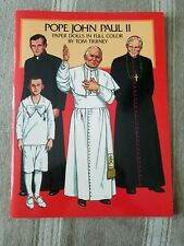 VINTAGE Pope John Paul II Paper Dolls by Tom Tierney UNCUT ORIGINAL