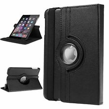 Apple iPad 2 3 4 - Black 360 Rotating Stand Leather Case Cover Auto Wake/Sleep