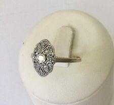 Art Déco Diamant Ring 585 GG 1 Altschliff + ca. 8 Rose Diamanten, alt+dekorativ!