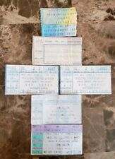 Lot of 6 Van Halen Concert Ticket Stubs David Lee Roth Sammy Hagar Eddie Vanhaln
