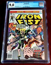 Iron Fist #9 Nov 1976 CGC VF/NM 9.0 WHITE Marvel 1st full appearance of Chaka