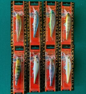 Set Of 8 Lucky Craft Pointer 100H3 ~3 Hook Version~ 10cm 16,5g  *FREE SHIPPING*