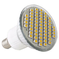 5x(E14 SMD 60 LED Strahler Lampe Birne Licht Warmweiss 3W GY