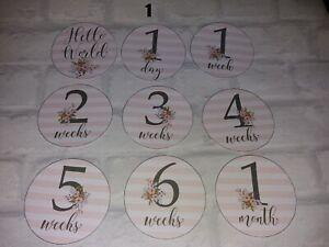 baby girl / boy milestone cards photo prop memories keepsake gift present