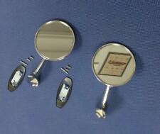 1965 1966 CHEVROLET IMPALA FACTORY CHROME STEEL DOOR MIRROR SET W/ BOWTIE NEW