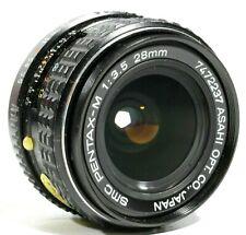 SMC PENTAX-M F3.5 28mm Lens PK Mount with Caps UK Fast post