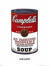 POP ART PRINT - Campbell's Soup by Andy Warhol Vegetable Soup Can Poster 32x24