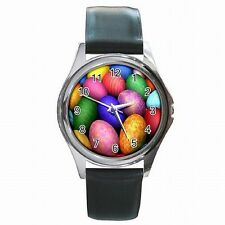 Easter Eggs Colorful Spring Holiday Accessory Leather Watch New!