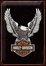 "Harley Davidson EAGLE 10x8"" Retro Vintage Metal Advertising Sign Wall Art Pic"
