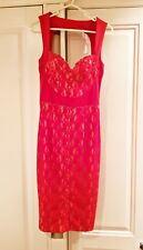 ASOS Christmas Red Lace Party Dress Size 8
