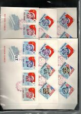 JE ROMANIA - 6 FDC - PERF + IMPERF - SPACE - RUSSIA - USA