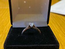 Diamond Engagement Ring Size K 1/12 .51 Carat Diamond 18ct White Gold