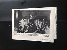 N1-7 ephemera 1950s picture usa Michigan college band football helmets