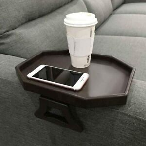 Sofa Arm Clip Table, Armrest Tray Table, Drinks/Remote Control/Snacks Holder …