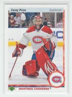 (67288)  2010-11 UD 20th ANNIV. PARALLEL CAREY PRICE #96