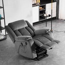 Elektrisch Power Relaxsessel Massagesessel Fernsehsessel Heizung USB Samt Stuhl