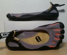 VIBRAM FIVE FINGERS Mens Gray Orange Black Running Shoes Good Condition Sz 7/40