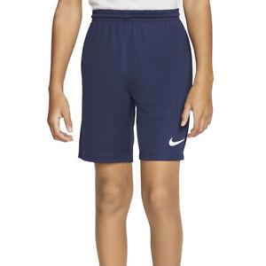 Nike Park III Knit Kids Dri Fit Navy Blue Sports Training Football Shorts