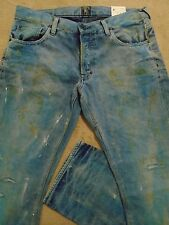 PRPS BARRACUDA Mens Indigo Mud Stains Faded Splattered Dirty Jeans 34 Orig $395+