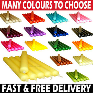 COLOURFUL DINNER CANDLES FOR CHEAP PRICE - MANY COLOURS TO CHOOSE