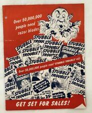 1940s BERKELEY RAZOR BLADES Merchandising STORE SALES DISPLAY Advertising