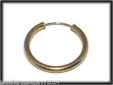 9 ct Para hombre Oro pendientes pequeños aro tapado pendiente individual 22mm