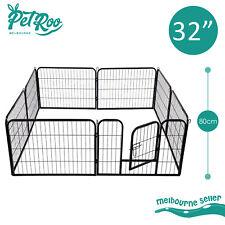 "32"" 8 Panel Pet Playpen Portable Exercise Cage Fence Enclosure Dog Puppy Rabbit"