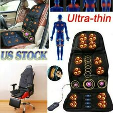 8 Mode Massage Car Seat Cushion Back Relief Chair Pad Heated Lumbar Massager