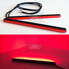 "2pcs Red Mini LED DRL Bars 6.5"" 24-SMD5630 Waterproof High Bright Light Strips"